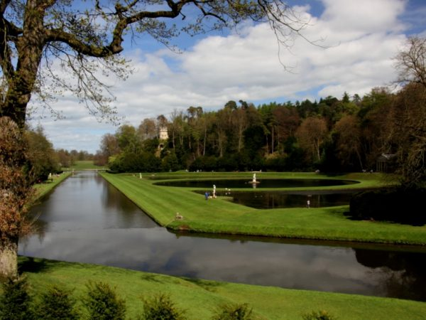 Photo of Studley Royal from the Rustic Bridge