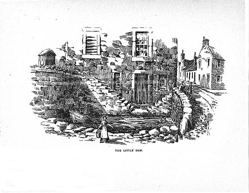 Drawing of The Little Dam, by William Thomson