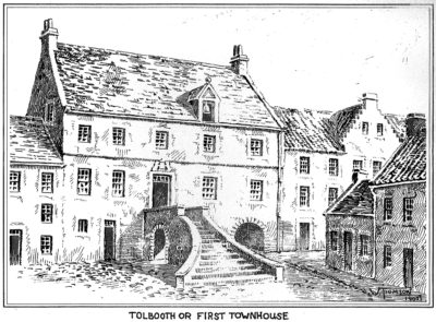 Drawing of the Tolbooth or First Townhouse