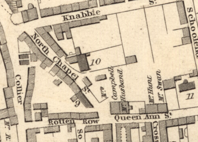 Part of Wood's plan of Dunfermline