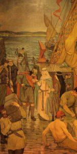 St. Margaret landing in Scotland, by William Hole Scottish National Portrait Gallery