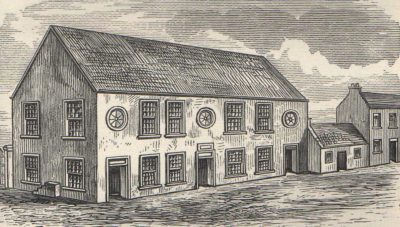 Drawing of the church of 1741