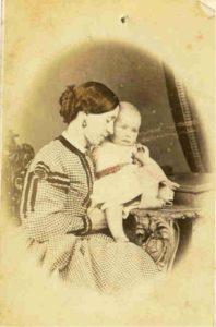 Photo of Anne with daughter Mary. (Circa 1868 - Mary was born in 1867.)
