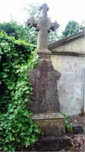 Photo of the tombstone of the Rev and Mrs More in graveyard of Cairneyhill Parish Church